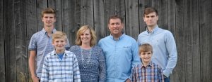 Besecker Family in front of barn